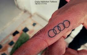 tattoo my logo audi car logo tattoo by rohit panchal at crazyaddictiontattoos my