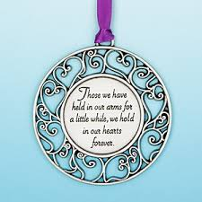 those we held in our arms for a while pewter ornament