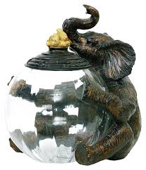 Elephant Bathroom Decor Amazon Com Sterling 91 2264 Composite Glass Elephant Storage Jar
