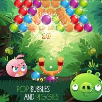 angry birds stella pop game mixes bird slinging bubble shooter