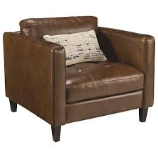 Leather Chair With Ottoman Upholstered Chair And Ottoman With Button Tufting By Magnolia Home