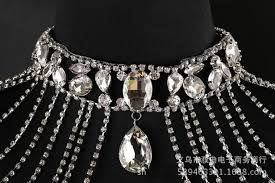 prom necklace bridal handmade wedding shoulder necklace pearl women