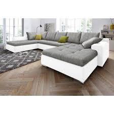 sofa canapé canapé panoramique convertible bi matière étagère rangement