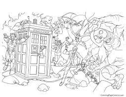 doctor who 02 coloring page coloring page central