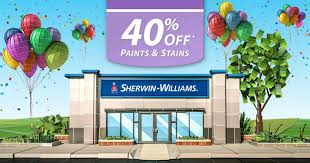 sherwin williams 40 off paints u0026 stains october 20th 23rd