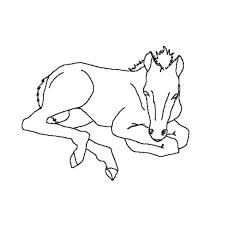 coloriage cheval dans son box a imprimer gratuit