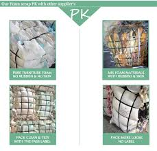 100 clean and dry pure polyurethane rebond foam waste recycling