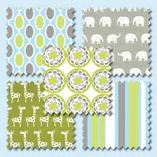 Backyard Baby Fabric by Baby Nursery Decor Elephant Combination Baby Nursery Fabric