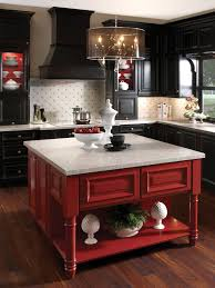 Kitchen Red Cabinets Red And Black Kitchen Cabinets Home Decoration Ideas