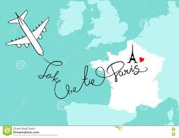 Western Europe Map by France Western Europe And City Paris Map Card With Plane Blue