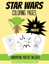 may the 4th be with you star wars coloring pages blessed
