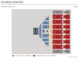 seating charts alerus center