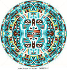 ethnic circle reminiscent mayan calendar stock vector 579001318