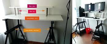comment faire un bureau fabriquer un bureau avec un plan de travail plus bureau standing sk