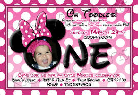 minnie mouse first birthday invitations iidaemilia com