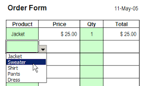 Excel Order Sheet Template How To Create Excel Order Form