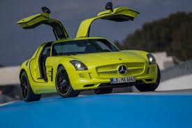 green mercedes benz mercedes benz sls amg electric drive supercar first drive video