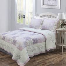 feminine lilac lavender floral girls bedding twin full queen king