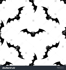 seamless pattern design halloween bat vector stock vector