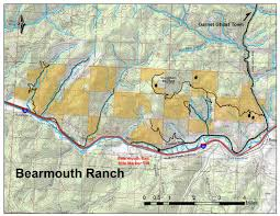 Montana Hunting Maps by Bearmouth Ranch Montana Recreation Paradise Hunting Fishing
