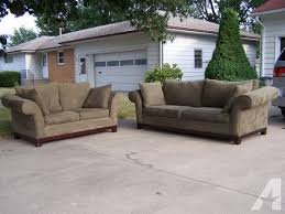 nice sofa couch and loveseat olive green for sale in