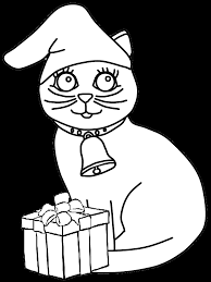 christmas cat coloring pages u0026 coloring book