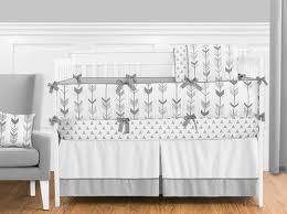 Unisex Crib Bedding Sets Grey And White Woodland Arrow Boy Unisex Baby Crib Bedding