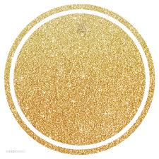 ap58428 circle gift tags solid blank gold glitter for make your