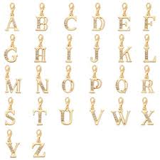 Customized Pendants China Customized Crystal Letter Charms Pendants Gold Plated S