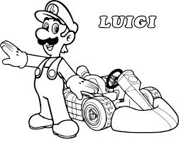 Coloriage Luigi Kart à imprimer