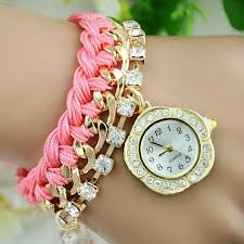 quartz bracelet wrist watches images Golden flower dial fashion luxury deluxe women ladies girls flower jpg