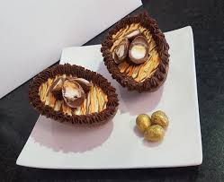 filled easter eggs café launches creme egg and ferrero rocher cheesecake filled