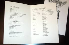 ceremony programs template folded wedding program template image of ceremony