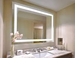 Lighted Mirror Bathroom Lighted Bathroom Mirror House Decorations