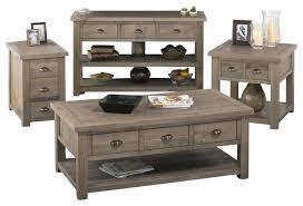 livingroom table sets jofran 940 1 4 reclaimed pine coffee table set traditional