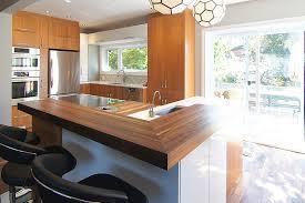 design de cuisine le comptoir de bois ou bloc de boucher le