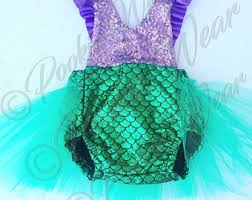 Infant Mermaid Halloween Costume Mermaid Birthday Etsy