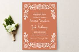 printed wedding invitations block printed floral wedding invitations by kathar minted