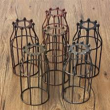 industrial cage light bulb cover retro vintage l covers pendant chandelier light bulb guard wire