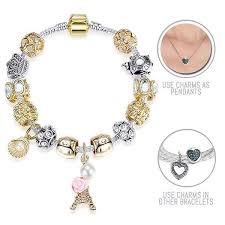 pandora style bracelet clasp images Paris paris silver and golden pandora style bracelet combo set jpg