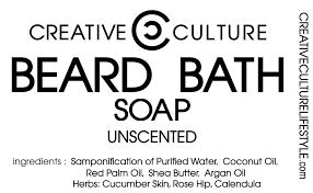 Creative Culture Beard Bath Soap  Creative Culture Lifestyle