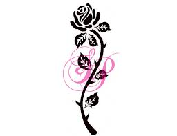 long stem rose tattoo tattoos clipart library clipart library