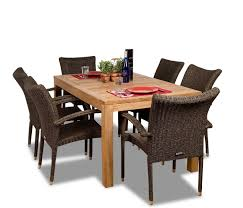 luxurious 7 piece grade a teak dining set teak patio furniture world