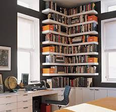 Narrow Corner Bookcase by Aweinspiring Bookshelves Ideas Home Designing