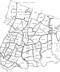 New York Zip Code Map by Bronx Neighborhood Boundaries Question Webster Bath