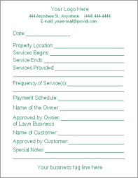 lawn care programs for do it yourself free lawn care contract forms