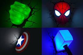 3d deco superhero wall lights ben s shares 3d light fx marvel comics super hero 3d deco lights