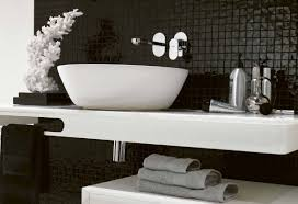 wonderful bathroom designs black and white ideas miny tile wall
