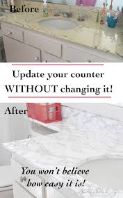 Contact Paper Desk Makeover Diy Faux Marble Countertop Update Anika U0027s Diy Life