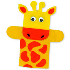 felt giraffe hand puppet inspiring bridal shower ideas